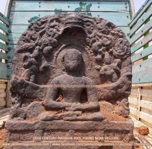 10th century Mahavir idol found near Vollore
