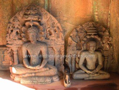 Idols of Tirthankar Parshwanath in Padmasana.