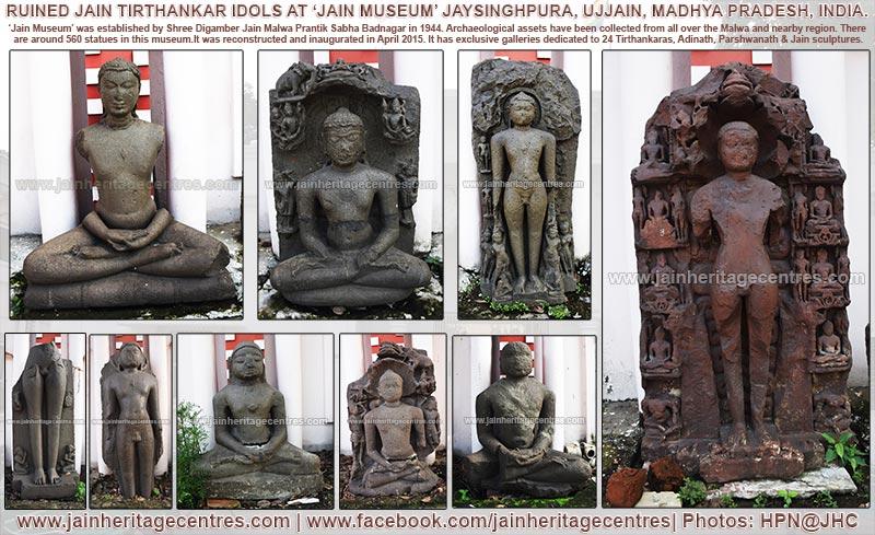 Ruined Tirthankar Idols - Jain Museum