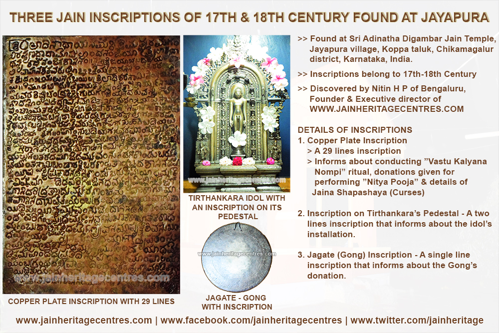 Three Jain Inscriptions of 17th & 18th Cnetury Found at Jayapura