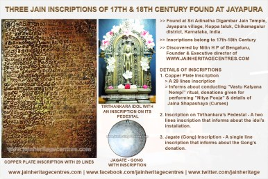 Three Jain Inscriptions of 17th & 18th Cnetury Found at Jayapura