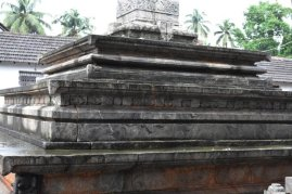 Manastambha's base, Manastambha at Karkala, Udupi District, Karnataka.