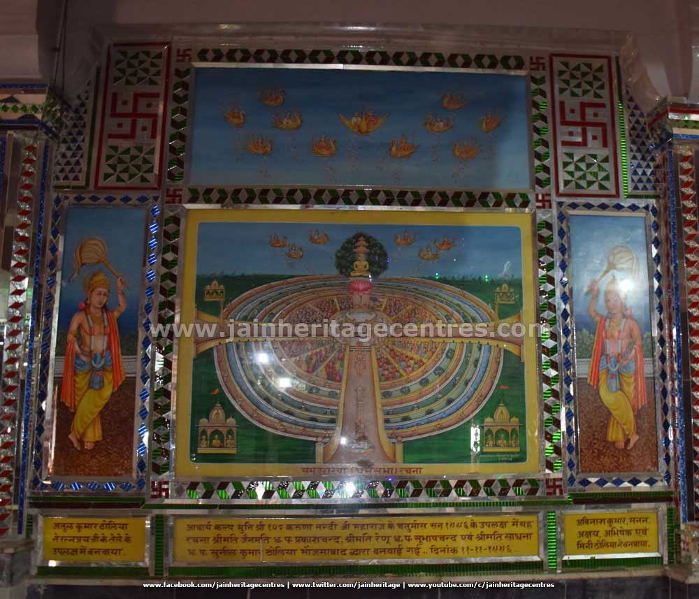 Paintings at Adinath Digambar Jain Temple.