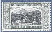 The first stamp on Jainism was issued in India by Saurashtra State.