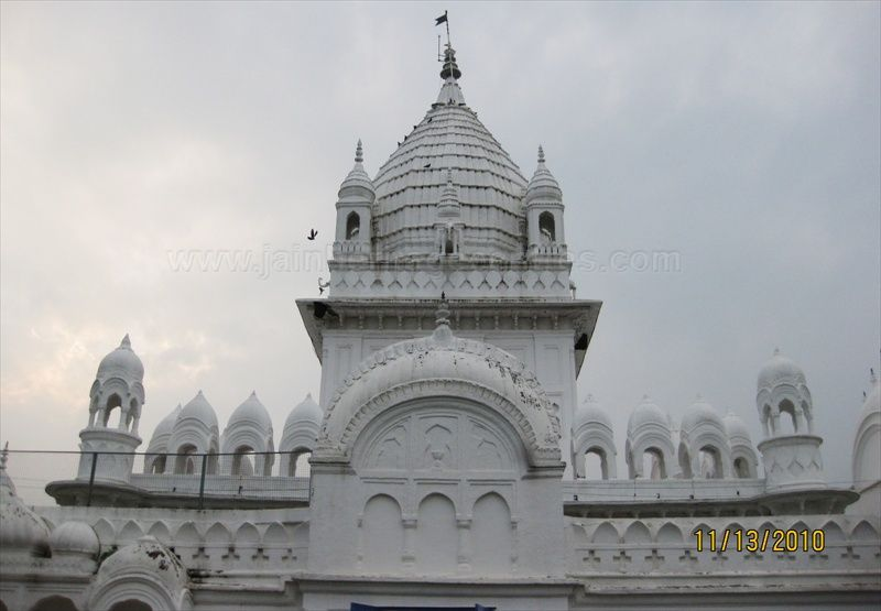 Pinnacle/Shikara of Parshwanath Jain temple.
