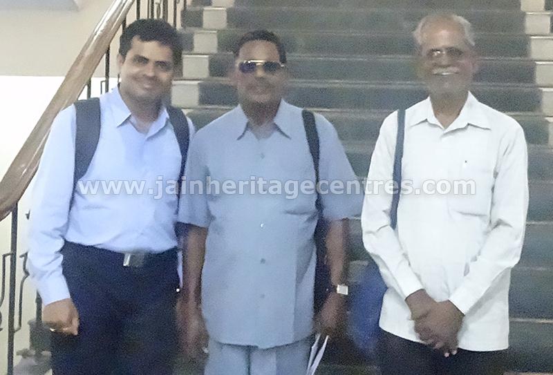 Jain scholar Dr. Kanaka AjithaDoss & Nitin H P founder of JHC with  Dr. A. Ekambaranathan
