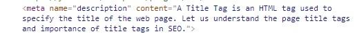meta description tag example