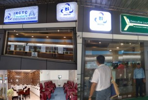 A premium executive waiting lounge developed at Jaipur Railway Station