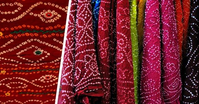 Bandhani Work Fabrics in Jaipur