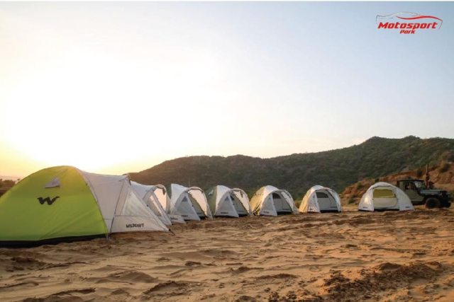 Camping on dunes