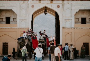 Amer Fort elephant ride