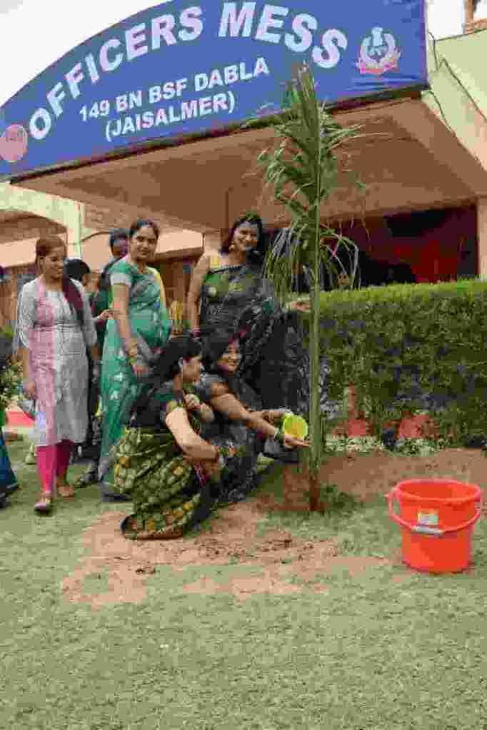 बीएसएफ की 149 बटालियन में वृक्षारोपण के साथ मनाया तीज महोत्सव 4