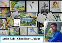 Artist Rohit Chaudhary, Jaipur