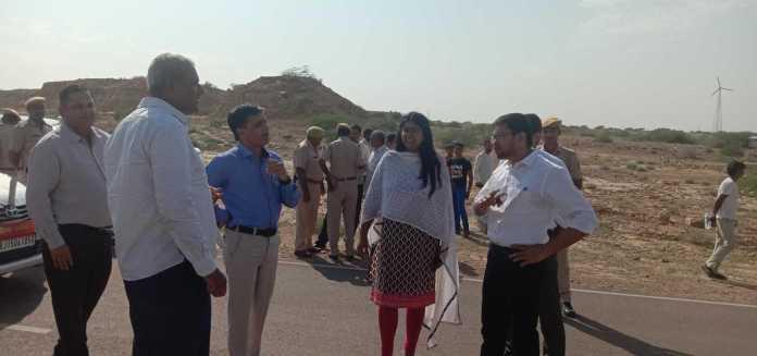 Jaisalmer Sp And Jaisalmer Collector On The Spot