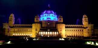 Ummaid Bhavan Palace Blue Light World Diabetes Day