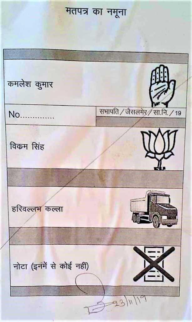 Jaisalmer Nagar Parishad Sabhapati Candidates
