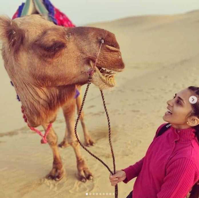दक्षिण भारतीय Actress सिन्धु लोकनाथ ने किया जैसलमेर का भ्रमण 5