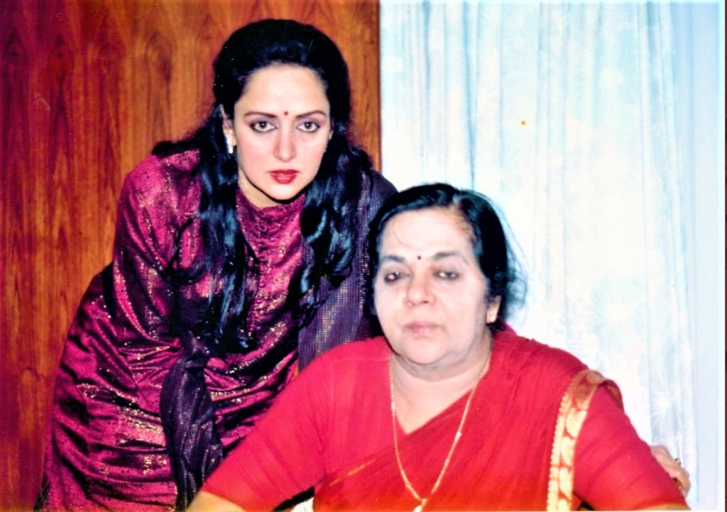Hema Malini With Her Mother 1