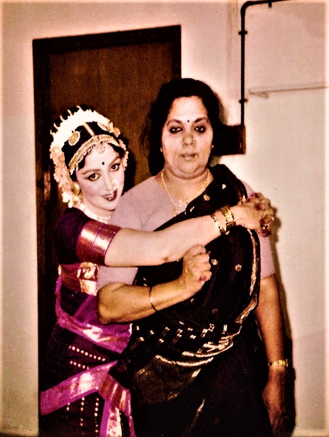 Hema Malini With Her Mother