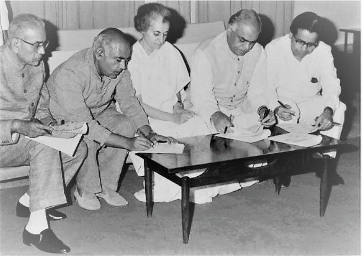 Barkatullah Khan WIth Indira Gandhi