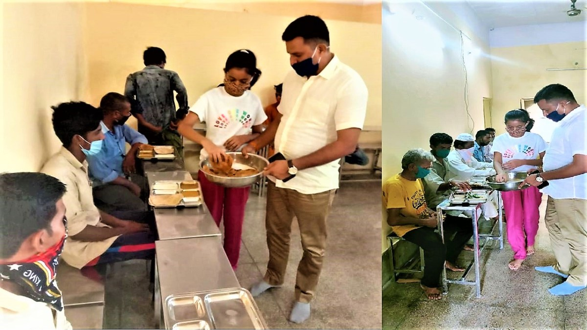 Jaisalmer SP Ajay Singh takes new initiative on daughter's birthday, provides food to the needy in four Indira kitchens of the district