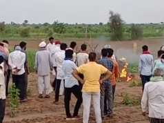 The case of self-immolation in Pokaran police station Girdhariram's last rites after the administration assured to agree to 9-point demands