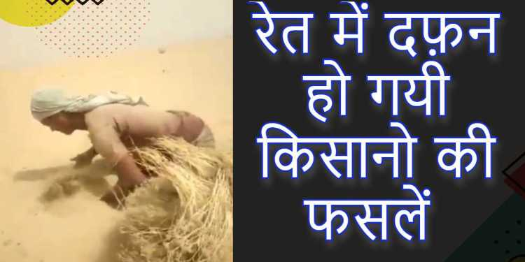 Sandstorm brought devastation in western Rajasthan