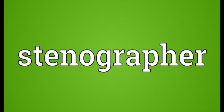 Stenographer news