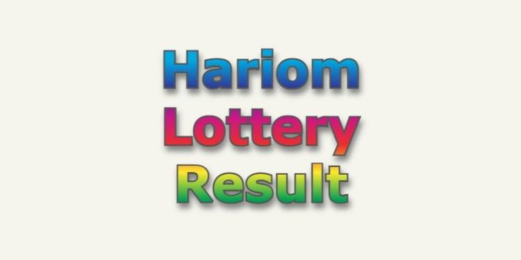 Hariom Lottery Result