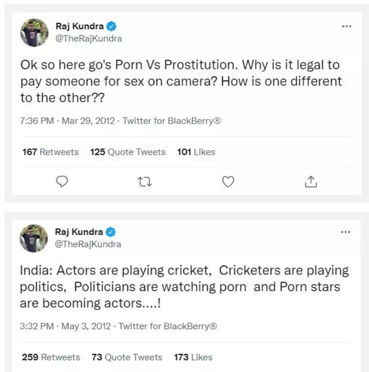 Shilpa Shetty husband Raj Kundra viral tweet