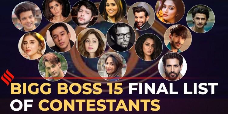 Bigg Boss15 Contestants List