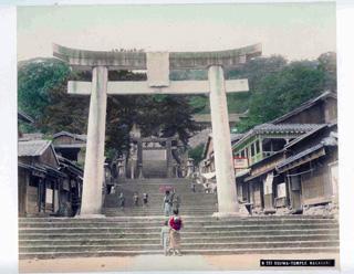 Osuwa Temple, Nagasaki, 1880