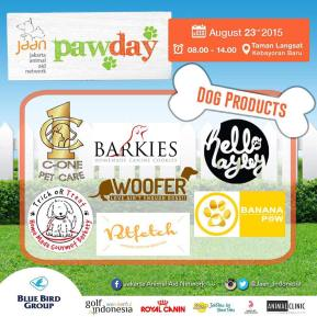 It's 2 days left until PawDay and we are proud to announce that these are the tenants that will be selling food, treats, and other products for your lovely furry babies! Make sure to check out their booths on Sunday! Tap for details #jaan #jakartaanimalaidnetwork #pawday2015 #jakartaevent #cfd #carfreeday #dogwalk #doglovers