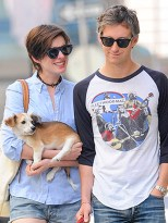 Anne Hathaway and her rescue Kenobi.