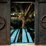 The Slate-door and swimming pool