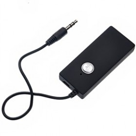 Universal Wireless Stereo Audio Receiver 3.5mm Bluetooth 2.0 - Black - 1
