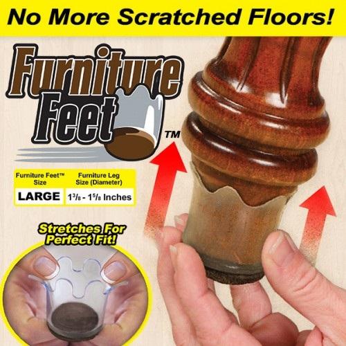 chair leg glides for wood floors down filled furniture feet bantalan kaki sofa elastis 8pcs - transparent jakartanotebook.com