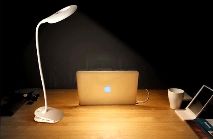 Lampu Meja Belajar Portable Hemat Energi Reachargeable USB  White  JakartaNotebookcom