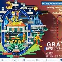 Bus wisata Transjakarta bus Jakarta Explorer 3 Kesenian dan Kuliner (Art and Culinary)