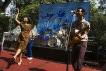 Indonesian's Band White Shoes and The Couples Company during a Festival Laut a.k.a Sea Festival in Senayan Park, Central Jakarta, Saturday 19 September 2015. Greenpeace Indonesia held Sea Festival which was in order to increase public awareness of the importance of sustainable fisheries for the future and the health of the world's oceans . Photo @ Greenpeace/Ardiles Rante