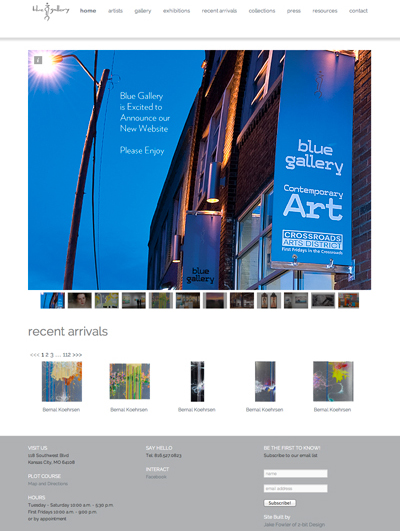 Blue Gallery's new website