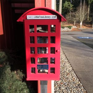 The Little Free Library at Griffin Fire Station