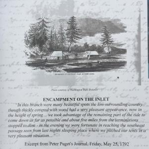 Interpretive sign at Eld Inlet (detail)