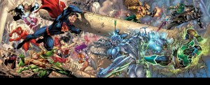 Free Comic Book Day Trinity War Spread