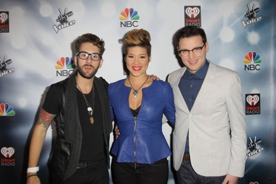 """Team Adam continues to dominate """"The Voice"""" as Will Champlin, Tessanne Chin and James Wolpert will be performing for the Final Six. (Photo property of Jonathan Leibson/NBC)"""