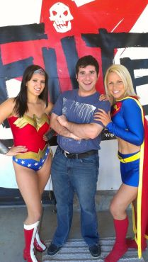 "Planet Comicon cosplayers are the nicest group of people I have ever met! Say ""Hello"" to Wonder Woman and Supergirl for me if you go to Planet Comicon. (Photo property of Jacob Elyachar)"
