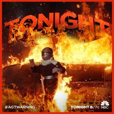 "For the second time this season, ""America's Got Talent's"" Extreme acts turned up the heat with their electrifying stunts. (Photo property of NBC, FremantleMedia North America & SYCO TV)"