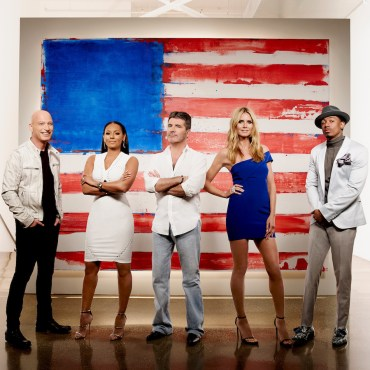 "The ""America's Got Talent"" crew pose together before the Live Shows! (Photo property of NBC)"