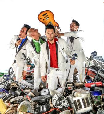 """Season Four third place act Recycled Percussion returned to """"America's Got Talent."""" (Photo property of Recycled Percussion)"""