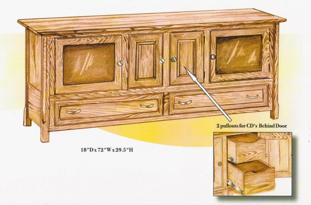 Jakes Amish Furniture 3026 Rope Twist 72 TV Stand